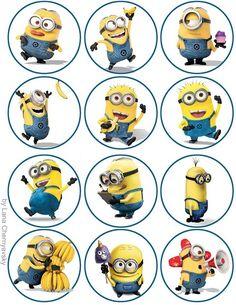 minion cupcake stickers: minion cupcake stickers