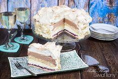 Słodko-słony świat Ilony...: TORT PRALINOWY Z BEZĄ, BIAŁĄ CZEKOLADĄ I CZARNĄ PORZECZKĄ Vanilla Cake, Tiramisu, Yummy Food, Ethnic Recipes, Vans, Delicious Food, Van, Tiramisu Cake