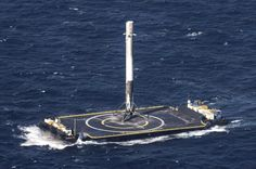 The Falcon 9 rocket's previous landing on a ship