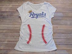 Royals Maternity Shirt - KC Royals Maternity Shirt by MommyPlusMeBoutique on Etsy