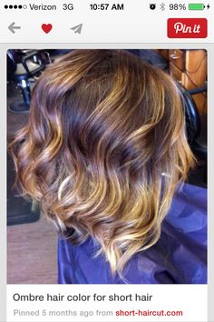 ombre for short hair? inverted bob with highlights..I heart everything about this!