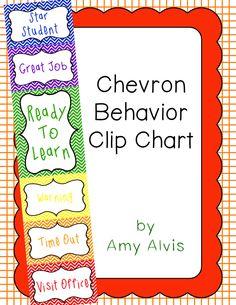 Behavior Clip Chart - Behavior Management - CHEVRON 2, $