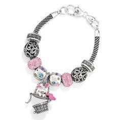 Brighton Bunny Basket Charm on bracelet