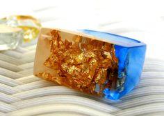 Tanzanite Resin Rings Blue Gemstone Resin Rings by ResinHeavenUSA