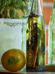 Aceites aromatizados con hierbas.