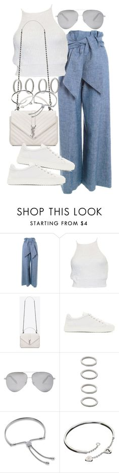 """Untitled #19777"" by florencia95 ❤ liked on Polyvore featuring MSGM, Yves Saint Laurent, rag & bone, Victoria Beckham, Forever 21, Monica Vinader and Cartier"