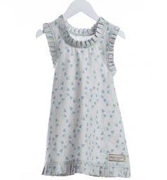 Lett kjole i økologisk, GOTS-sertifisert bomull. En herlig sommerkjole med søtt blåklokke print.  Kvalitet: 100% økologisk bomull GOTS