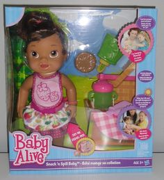 Baby Alive Super Snacks Snackin Lily Brunette Baby