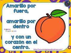 Adivinanzas de frutas formato tarjetas listas para plastificar - Imagenes Educativas