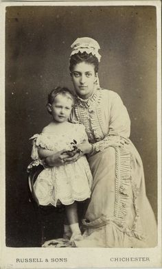 Alexandra, pss of Wales with daughter Maud (later queen of Norway).