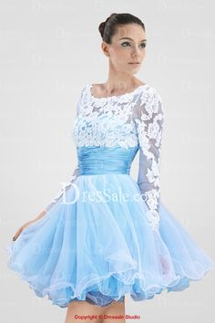 Honorable Scoop Neckline Illusion Long Sleeves Sweet 16 Dress Featuring Appliques and Pleats