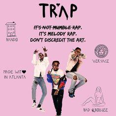 Its not #MumbleRap. Its #Melody #Rap. Let's all stop discrediting the #art.  @migos #ATL #Migos #Bando #Versace #BadAndBoujee #Atlanta #MadeWithLoveInAtlanta #ArtOfMusic #Trap #TrapKings #WeLuvTrap