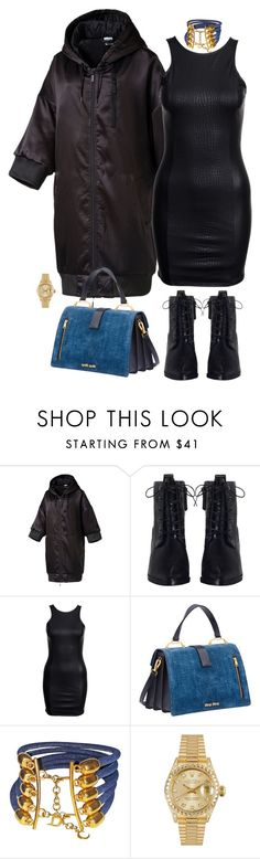 """denim"" by hy1as on Polyvore featuring Mode, Puma, Zimmermann, Miu Miu, Christian Dior und Rolex"