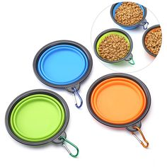 Silicone Collapsible Dog Bowls - Perfect Foldable Travel Pet Bowl For Feed and Water on Journeys, Hiking, Kennels and Camping, BPA Free - Set of 3 -- You can find more details by visiting the image link. (This is an affiliate link and I receive a commission for the sales)