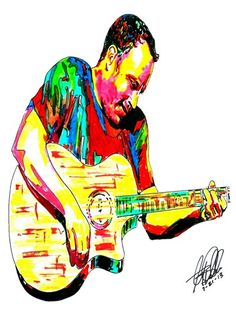 Dave Matthews, Dave Matthews Band, Guitar Player, Singer, POSTER w/COA