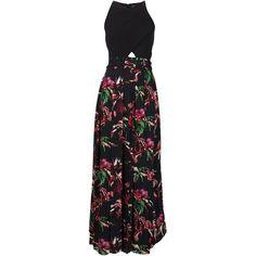 Proenza Schouler floral maxi belt dress ($2,865) ❤ liked on Polyvore featuring dresses, black, black dress, proenza schouler, proenza schouler dresses, black silk dress and kohl dresses
