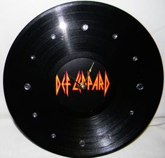 DEF LEPPARD Inspired Vinyl Record Wall Clock by PandorasRecordArt, $25.00
