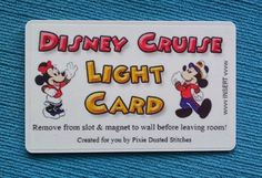 If we ever go on a Disney Cruise.......Mickey and Minnie Disney Cruise DCL Light Card for Fish Extender FE Gift on Etsy, $1.00