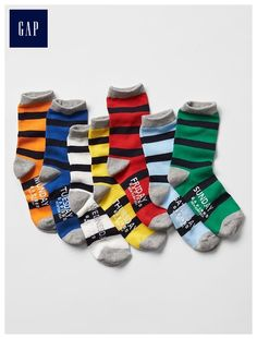 Stripe days-of-the-week socks (7-pack)