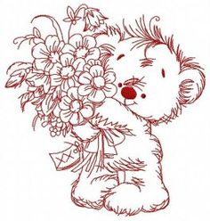 Bouquet for you 4 machine embroidery design. Machine embroidery design. www.embroideres.com