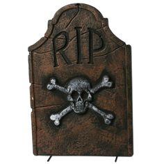 "22"" Skull and Crossbones RIP Tombstone"