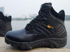 Men-SWAT-BLACK-Delta-Force-Tactical-Boots-CQB-Airsoft-Security-Cops-FBI-Police