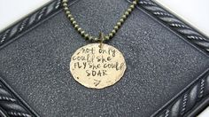 Fly Hand Stamped Necklace by EnchantedObjects on Etsy, $19.00