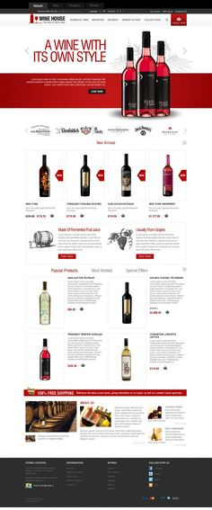 Wine House - Responsive OpenCart Template for Wine Stores