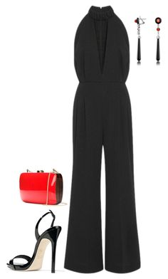 """Untitled #3934"" by injie-anis ❤ liked on Polyvore featuring Emilia Wickstead, Giuseppe Zanotti, Del Gatto and Rocio"