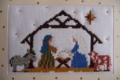 Mary Joan Stitching: Christmas Past! Christmas Nativity Scene, Christmas Past, Christmas Cross, Xmas Cross Stitch, Cross Stitching, Cross Stitch Designs, Cross Stitch Patterns, Embroidery Stitches, Hand Embroidery