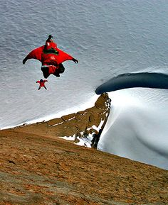 Base jumping in Antarctica,