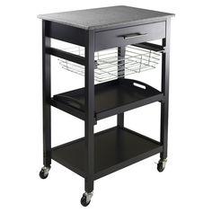 Julia Kitchen Cart with Granite Top
