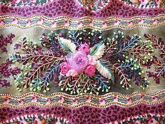 crazy quilting . . .could b a wide ribbon sewn down/ embellished ...
