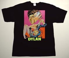 BOB DYLAN Don't Look Back promo art DELUXE ART CUSTOM T-SHIRT     Each T-shirt is individually hand-painted, a true and unique work of art indeed!  To order this, or design your own custom T-shirt, please contact us at info@collectorware.com, or visit  http://www.collectorware.com/tees-bob_dylan.htm