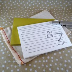 my current obsession (lighting), in stationery form...