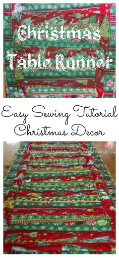 christmas table runner sewing tutorial from Nap-Time Creations