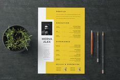 30 Unique Resume CV Templates With Interesting (Creative) Resume Ideas 2020 Cv Resume Template, Resume Design Template, Creative Resume Templates, Portfolio Web, Portfolio Resume, Portfolio Examples, Web Design, Layout Design, Creative Resume Design