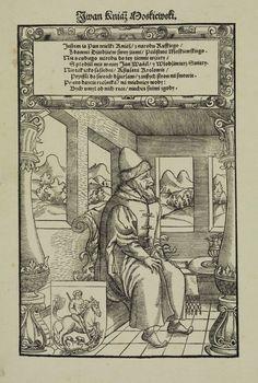Ivan Duke of Muscovy (Ivan the Terrible) by Monnogramist HB in Kraków, ca. 1550 (PD-art/old), Biblioteka Narodowa