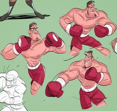 964 отметок «Нравится», 3 комментариев — Liz Murphy (@drawandestroy) в Instagram: «Some boxers I drew today. #boxing #men #characterdesign #art #cintiq #sketching #drawing #doodle»