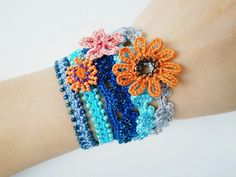 Crochet Lace Jewelry Boho Chic I Bracelet by dorischi4229 on Etsy, $63.00