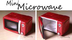 Horno microondas en miniatura, tutoría   -   Miniature Microwave. That Opens. Polymer Clay Tutorial