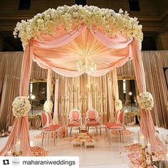 Over the top indian wedding mandap decoration. wedding mandap Over the top indian wedding mandap decoration. Indian Wedding Ceremony, Wedding Mandap, Desi Wedding, Wedding Draping, Simple Wedding Decorations, Ceremony Decorations, Wedding Ideas, Wedding Planning, Over The Top