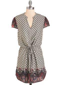 Walk on the Tiled Side Tunic. Liven up your weekend routine with this wildly charming tunic. #gold #prom #modcloth
