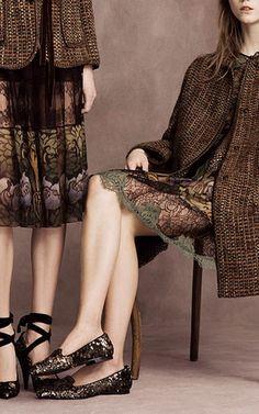 Multicolored Tweed Coat by ALBERTA FERRETTI for Preorder on Moda Operandi