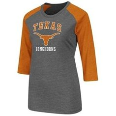 Texas Longhorns Women's 3/4 Sleeve Tee Shirt