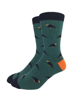 Green Raven | Good Luck Sock | goodlucksock.com #socks