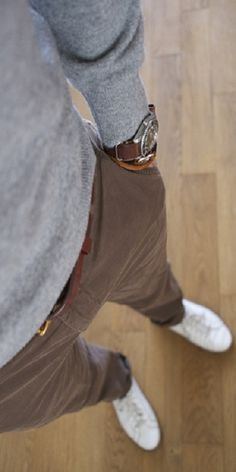 grey and brown, good texture combination too… Women, Men and Kids Outfit Ideas on our website at 7ootd.com #ootd #7ootd