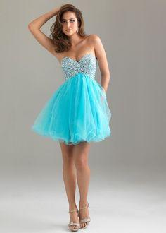 Blue Puffy Dresses