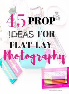 45 Prop Ideas For Flat Lay Photography - Natoya Ammon ~ Beauty, Life & Style Flatlay Instagram, Instagram Tips, Clothing Photography, School Photography, Photography Tutorials, Photography Tips, Product Photography, Flat Lay Photography Instagram, Creative Photography