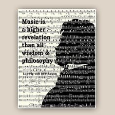 Beethoven educational Poster Music piano art Music by DigiMarthe